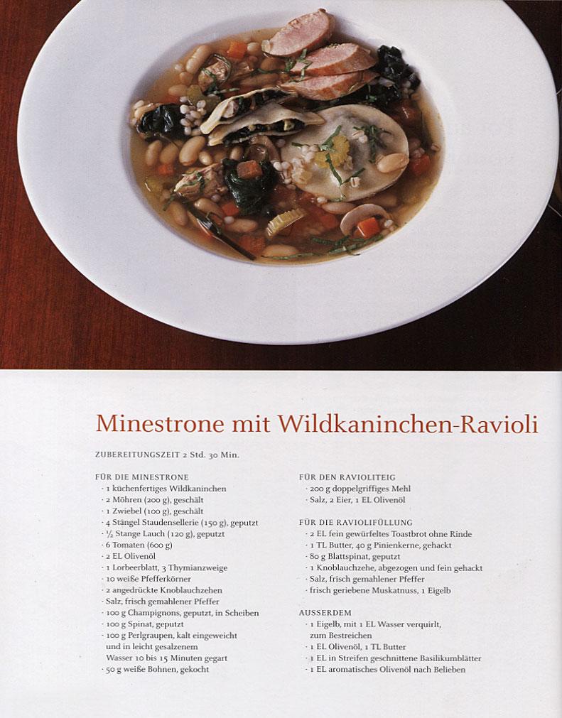 Das große Buch vom Wild / Rezept - Minestrone mit Wildkaninchen-Ravioli