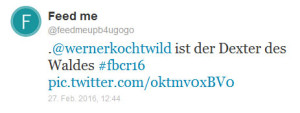 Dexter auf dem #fbcr16